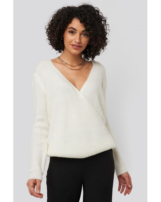 Trendyol White Double Breasted Knitted Sweater