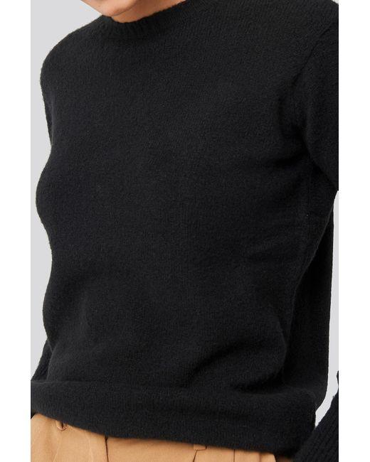 NA-KD Puff Sleeve Sweater in het Black