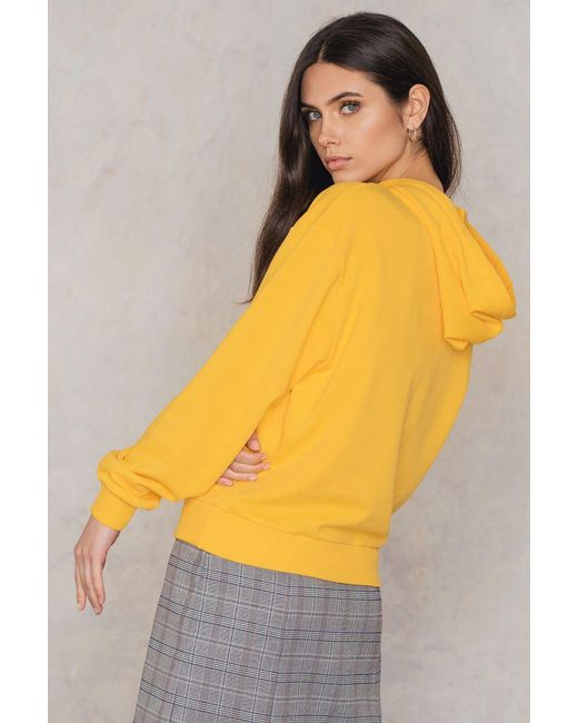 NA-KD   Yellow Basic Hoodie   Lyst
