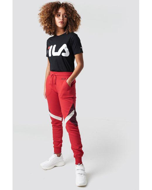 NA-KD - Multi Blocked Sweatpants Red - Lyst