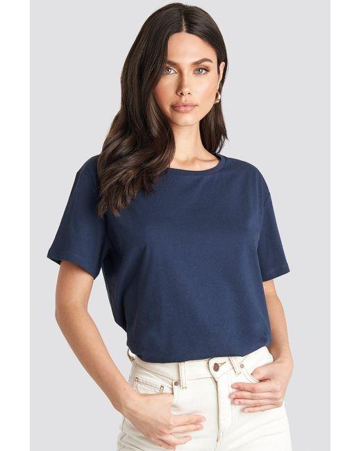 NA-KD Basic Oversized T-shirt in het Blue
