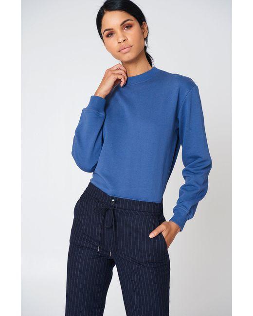 NA-KD - Blue Basic Sweater - Lyst