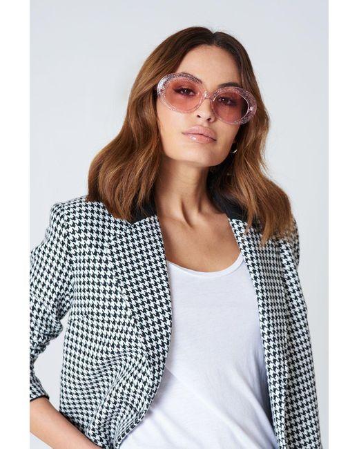 NA-KD   Pink Oval Sunglasses   Lyst