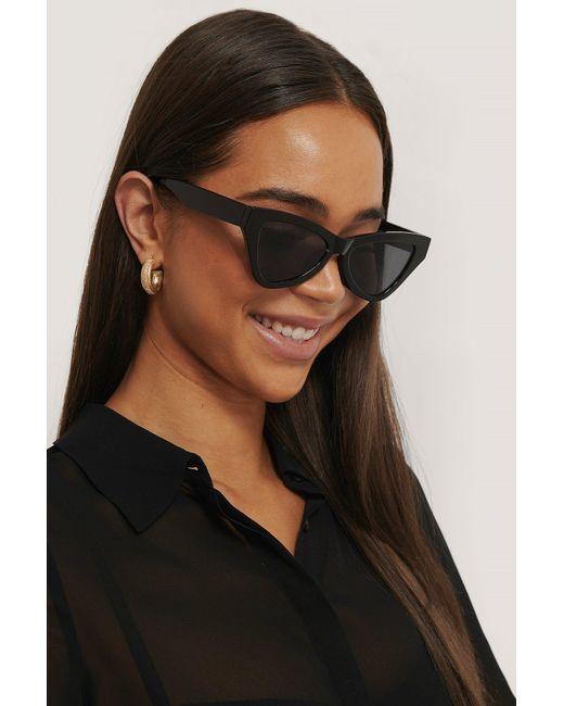 NA-KD Black Accessories Sharp Triangular Cateye Sunglasses