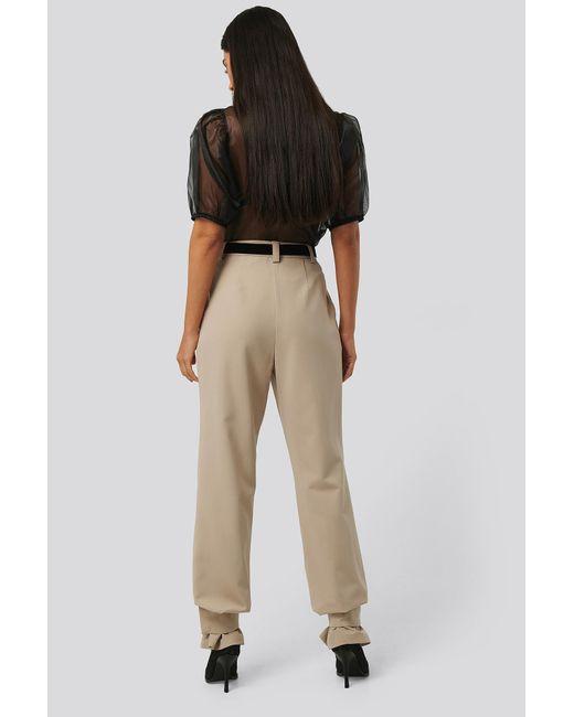 NA-KD Closure Suit Pants femme de coloris neutre i3KYb