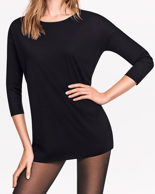 Wolford - Black Pure Cut Pullover - Lyst