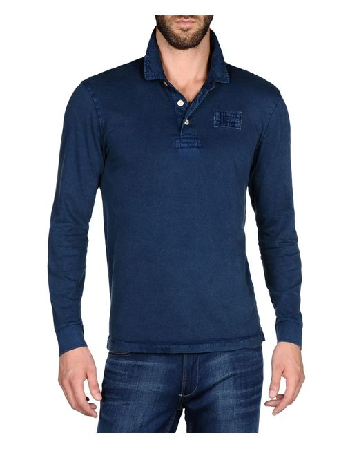 Napapijri | Blue Long Sleeve Polo for Men | Lyst