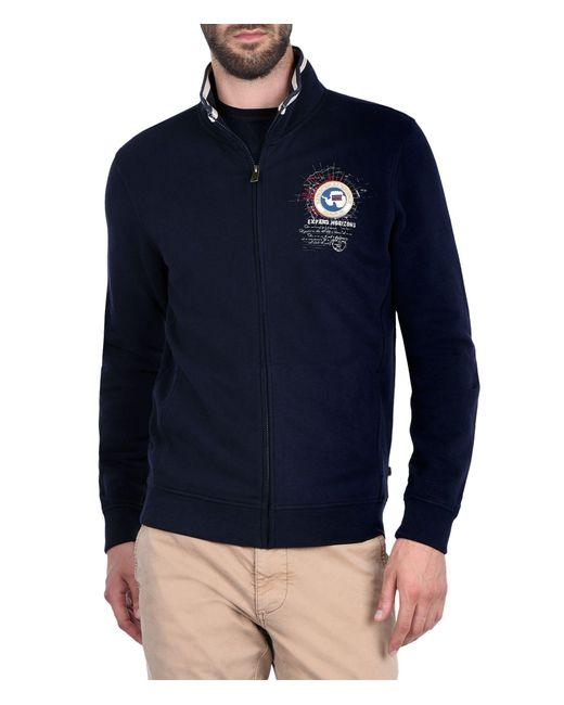 Napapijri | Blue Zip Sweatshirt for Men | Lyst