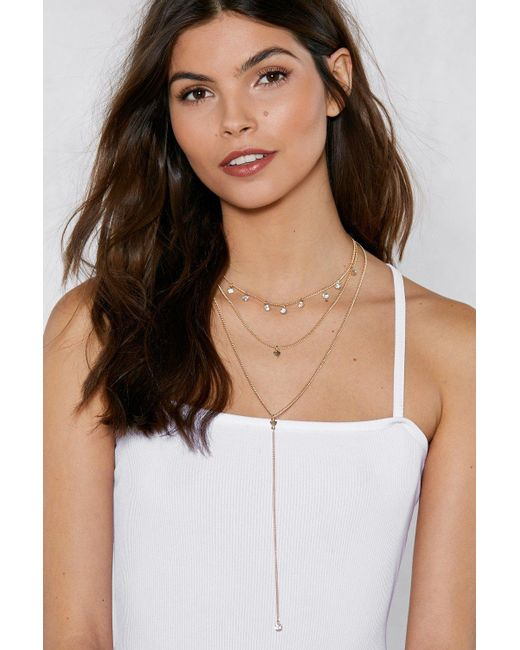 Nasty Gal - Metallic Gimme The Low Down Layered Choker - Lyst