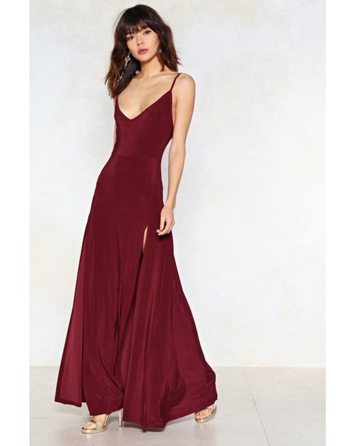 Nasty Gal Red On A High Maxi Dress