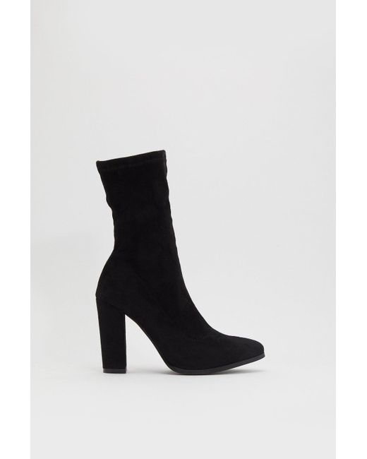 sit Tight Faux Suede Sock Boots