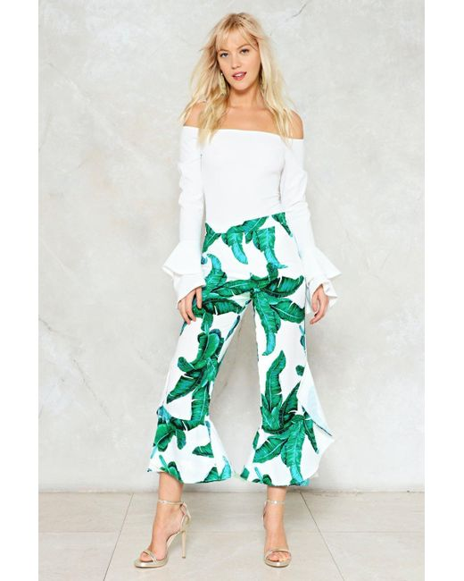 Nasty Gal | White I Plant Live Ruffle Pants | Lyst