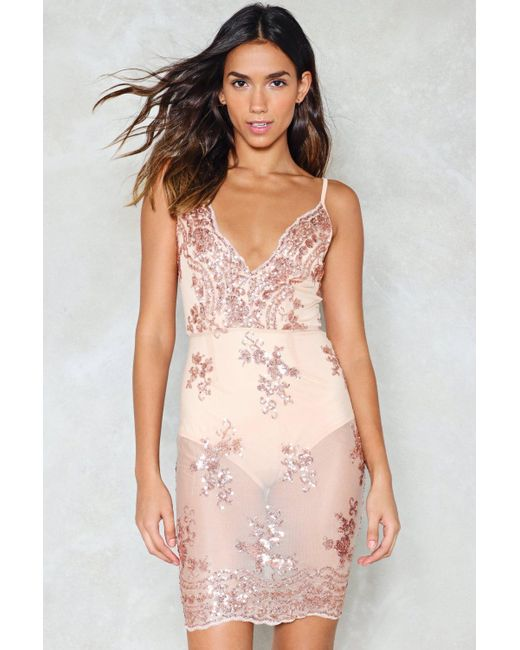 Nasty Gal | Pink I Will Survive Sequin Dress I Will Survive Sequin Dress | Lyst