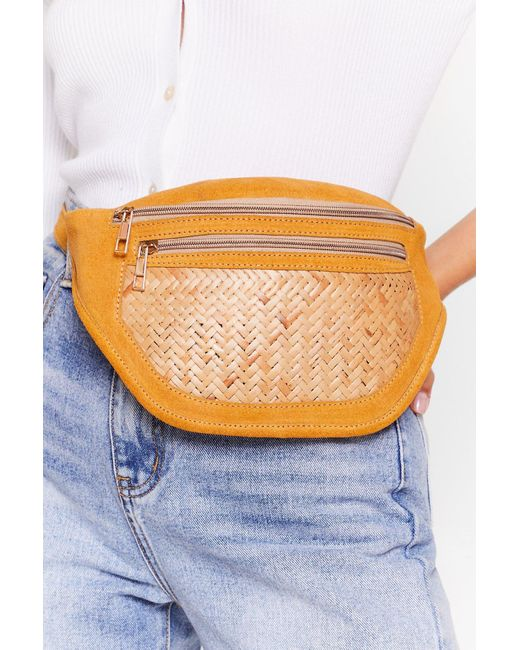 Nasty Gal Natural Want Wood You Believe It Suede Fanny Pack