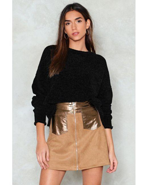 Nasty Gal - Black Pu Panel And Pocket Mini Skirt - Lyst
