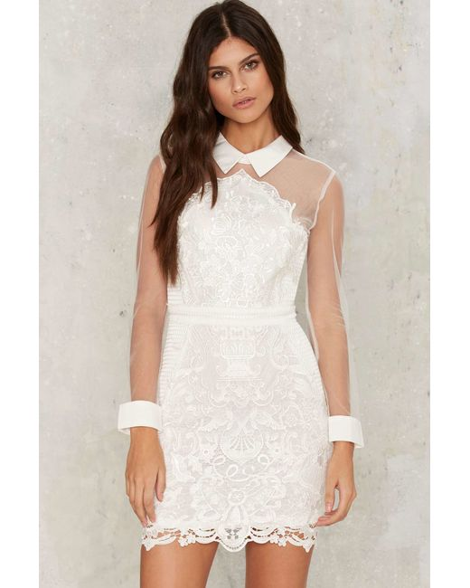 Nasty Gal | White Avery Crochet Lace Dress | Lyst