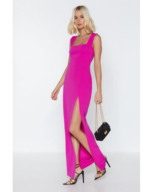 "Nasty Gal Pink ""square With Me Maxi Dress"""