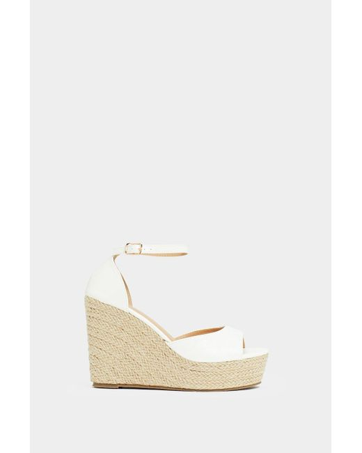 958fb9f0e48 Women's White Sunny Afternoon Espadrille Wedge Sandal