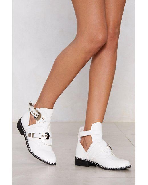 Nasty Gal White Take The Lead Bootie