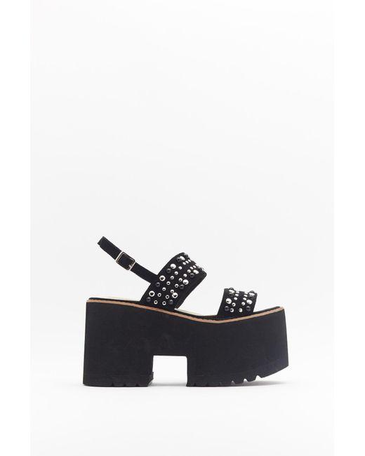 nasty gal black platform sandals