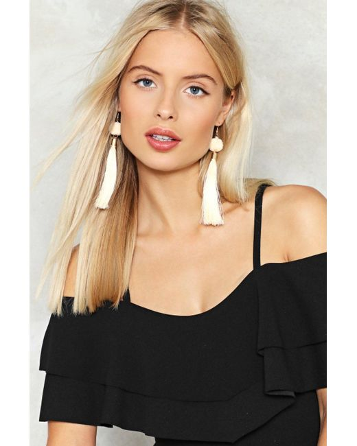 Nasty Gal | Multicolor Get The Ball Rolling Tassel Earrings Get The Ball Rolling Tassel Earrings | Lyst