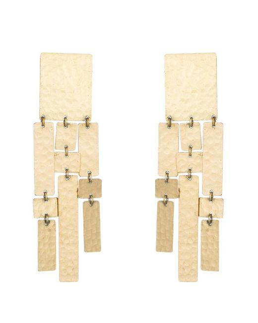 Natori | Metallic Josie Hammered Brass Drop Fringe Earrings | Lyst
