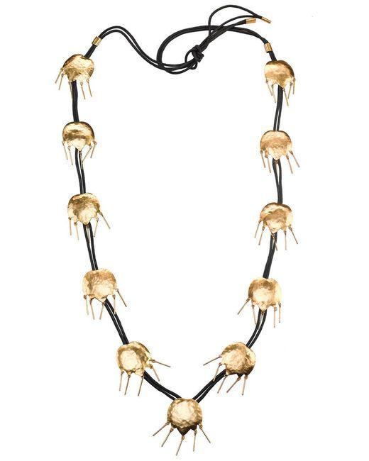 Natori | Metallic Josie Gold Brass Tulip Necklace | Lyst