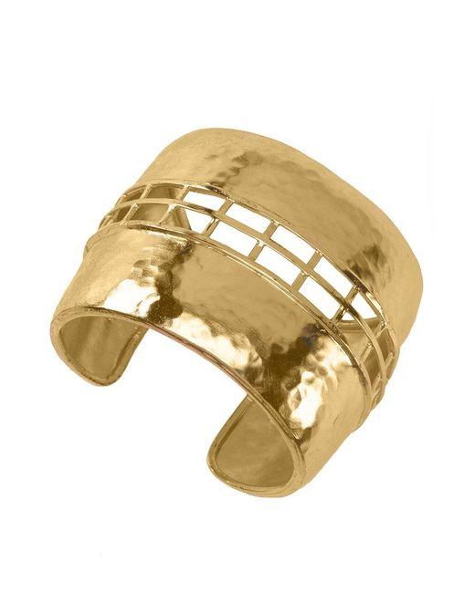 Natori - Metallic Josie Gold Brass Cage Bracelet - Lyst