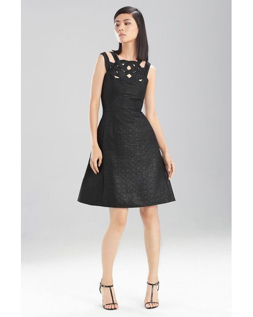 Natori - Black Lacquer Basket Weave Dress - Lyst