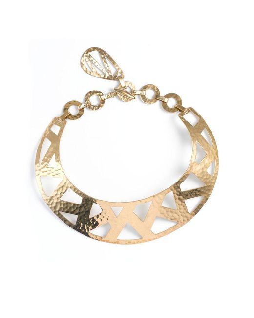 Natori | Metallic Josie Geometric Gold Necklace | Lyst