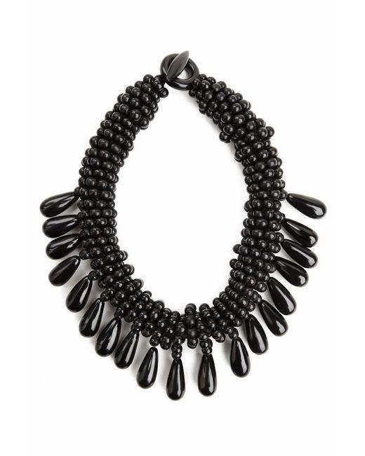 Natori - Black Josie Horn Cluster Necklace - Lyst