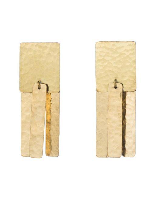 Natori   Metallic Josie Hammered Brass Fringe Earrings   Lyst
