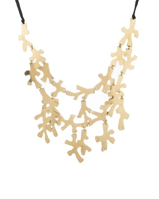 Natori - Metallic Josie Hammered Brass Necklace - Lyst