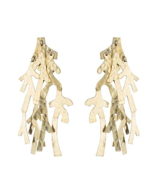 Natori | Metallic Josie Hammered Brass Earrings | Lyst