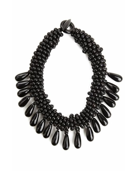 Natori | Black Josie Horn Cluster Necklace | Lyst