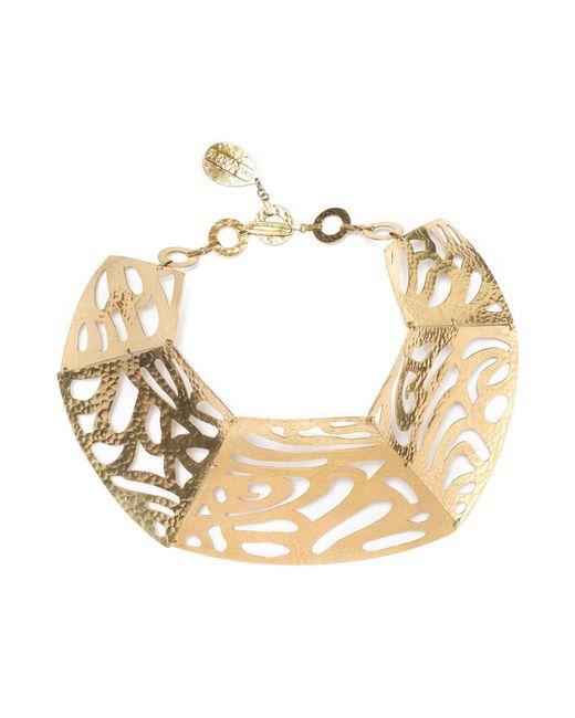 Natori | Metallic Josie Gold Cut-out Necklace | Lyst