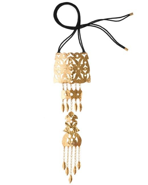 Natori | Metallic Hammered Gold Crown Necklace | Lyst