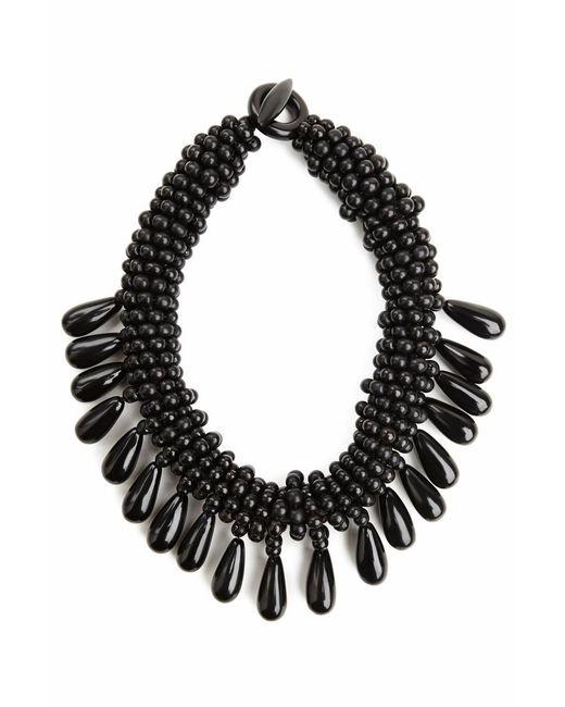 Natori | Black Josie Horn Cluster Necklace | Lyst