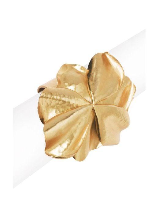 Natori - Metallic Josie Metal Floral Cuff - Lyst