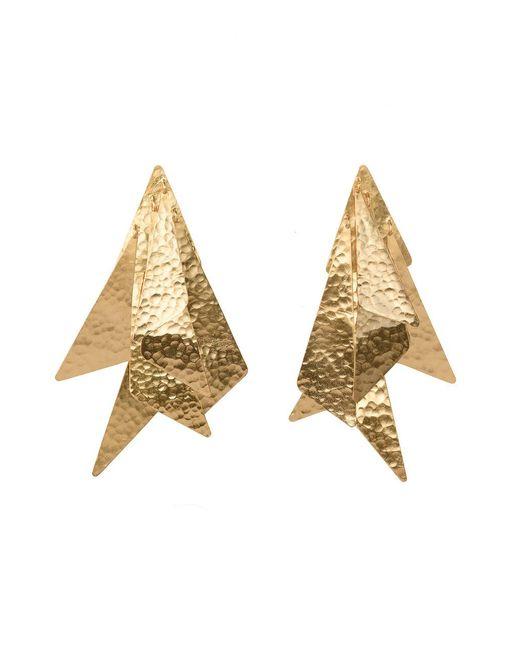 Natori - Metallic Josie Goldplated Brass Geometric Earrings - Lyst