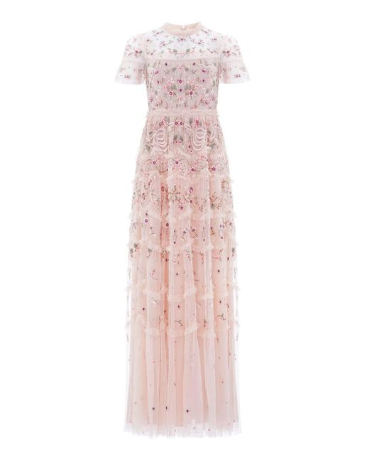 Needle & Thread Pink Elsie Ribbon Gown