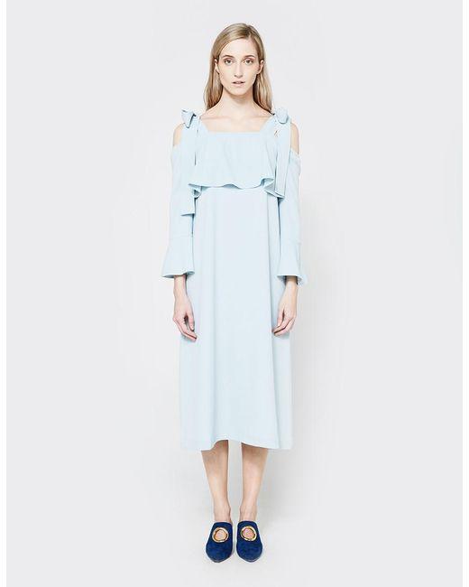 ef6e9cd6781fb Ganni - Blue Clark Dress - Lyst ...