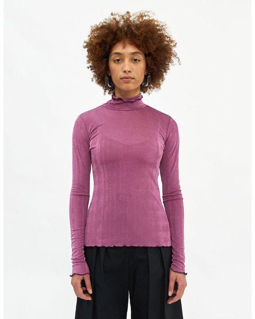Rachel Comey Purple Women's Recall Turtleneck Top