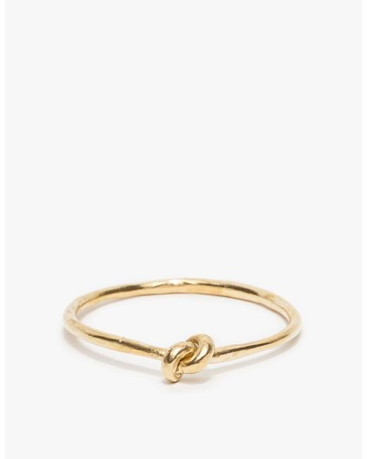 Drift Riot | Metallic Knot Bangle Brass | Lyst