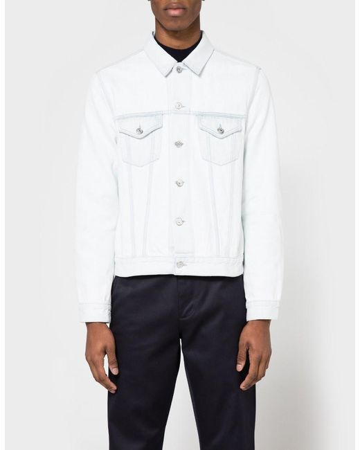 Acne | White Who Bleached Jacket for Men | Lyst
