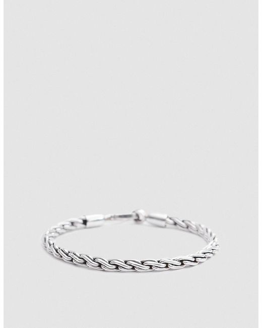 Caputo & Co. | Metallic Chunky Sterling Silver Chain Rope Bracelet | Lyst