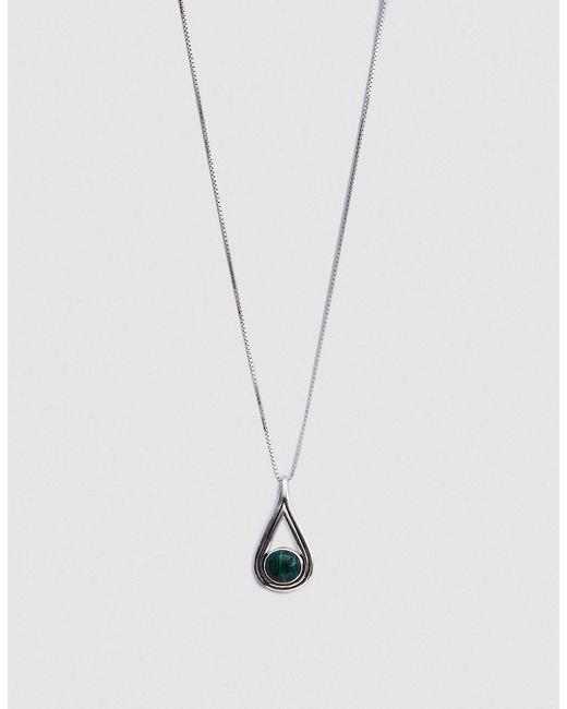 Pamela Love | Metallic Rhea Pendant In Sterling Silver With Malachite | Lyst