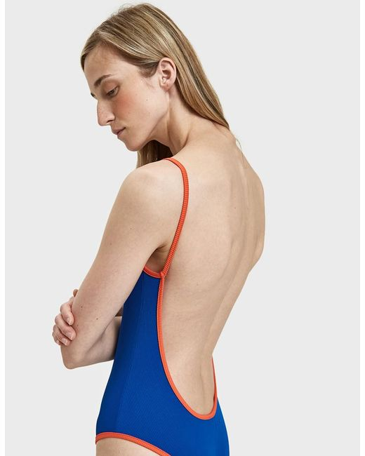 ACK - Blue Fisico Ribbed Swimsuit - Lyst