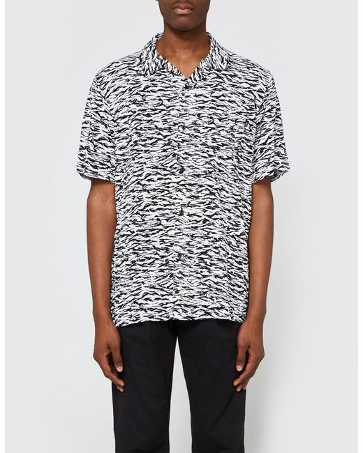 Obey - Black Uproar Woven Ss Shirt for Men - Lyst