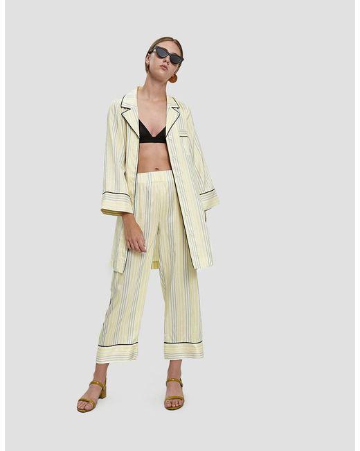 Ganni Multicolor Bergamot Silk Long Shirt